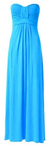 Crazy Girls Womens Boobtube Knot Front Bow Bandeau Maxi Long