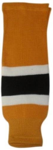 DoGree Hockey Boston Bruins Knit Hockey Socks, Gold/White/