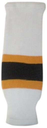 DoGree Hockey Boston Bruins Knit Hockey Socks, White/Gold/