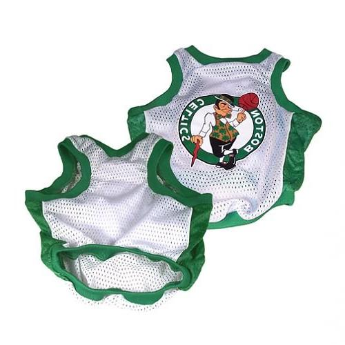 NBA Boston Celtics Basketball Dog Jersey, Large