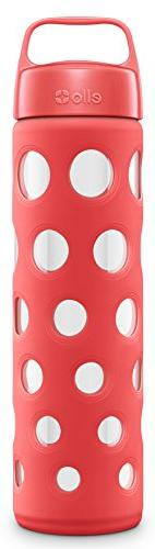 Ello Pure 20-Ounce BPA-Free Glass Water Bottle with Lid,