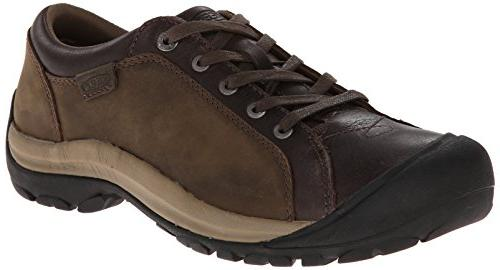 KEEN Women's Briggs Leather Oxford,Black,5 M US