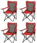 COLEMAN Broadband Camping Folding Quad Chairs w/ Mesh Back
