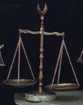 Bronzed Legal Scales of Justice with Eagle Finial and Marble