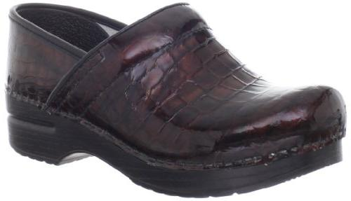 Dansko Women's Professional Brown Croc Clog,Brown Patent,41