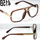 New Brown Gold DMC Square Gazelle Style Clear Lens Frame