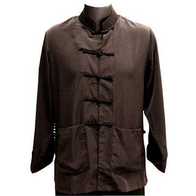 Brown Silk Kung Fu Jacket, Size L