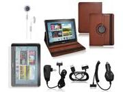 CrazyOnDigital Brown Stand Leather Case with Charger and