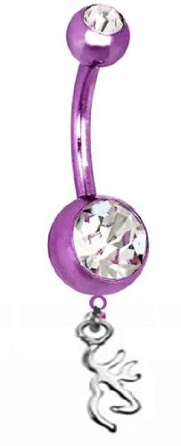 Browning PREMIUM Purple Titanium Anodized Sexy Belly Button