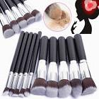 10pcs Brushes Cosmetic Makeup Tool Brush Set Powder Eyeshadow Lip Blush Kit New
