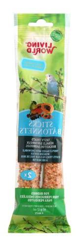 Living World Budgies Fruit Treat Sticks, 2-Ounce