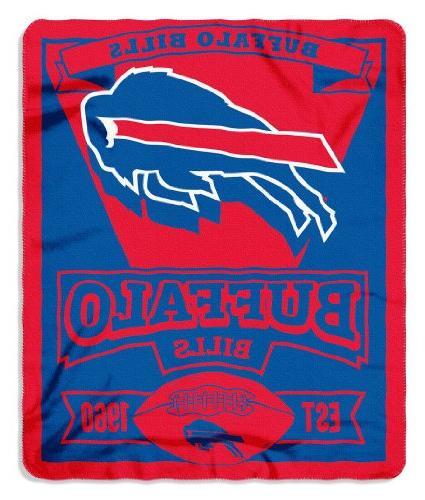 """NFL Buffalo Bills Marque Printed Fleece Throw, 50"""" x 60"""","""