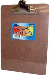 """Bulk Hard board Clip Board - 12.5"""" x 9"""" - Large Clip"""