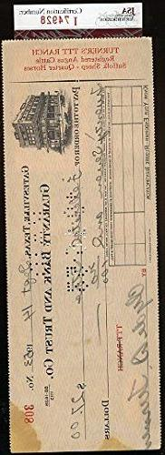 Bulldog Turner Vintage JSA Certed Signed Check Authentic