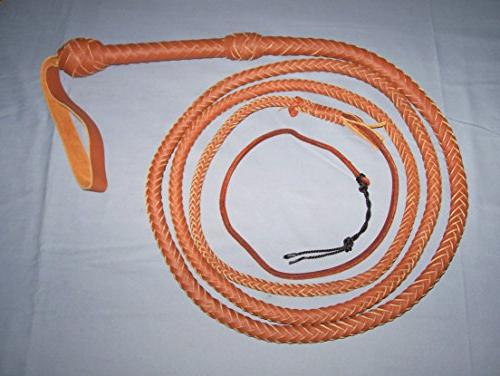 14 Foot 10 Plait TAN Bullwhip Real Leather BULL WHIPS