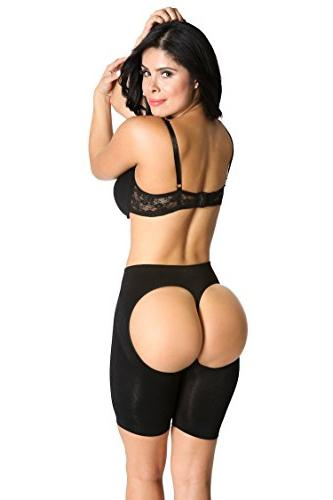 Butt Lifting Long Shorts - Instant Booty Makeover! - Black