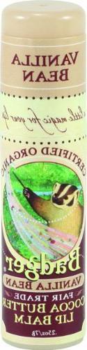 Badger Cocoa Butter Lip Balm - Creamy Cocoa - .25 oz