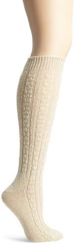 Wigwam Women's Cable Knee High Socks - oatmeal MD/ 6-10