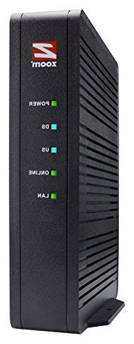 Zoom 16x4 Cable Modem, 686 Mbps DOCSIS 3.0, Model 5370,