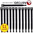 """Velcro Brand Cable Wire Ties Straps Reusable 8"""" x 1/2"""" - 12"""