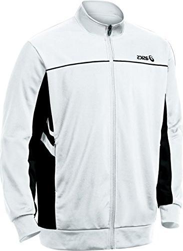 ASICS Women's Cabrillo Jacket,Black/White,Large