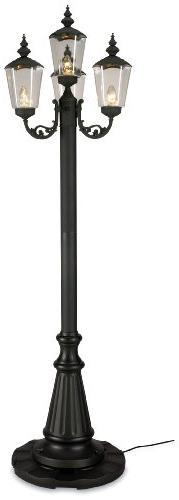Cambridge 00440 Four Lantern Black Patio Lamp 85-inches Tall