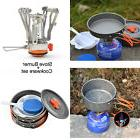 Camping Stove+Pot Pan Kit for Outdoor Backpacking Gear&