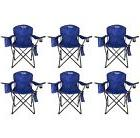 6-Pack Coleman Camping - Lawn Chairs With Built-In Cooler,