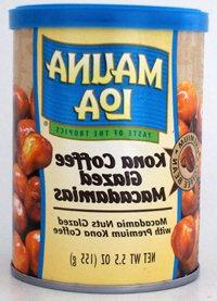 CASE OF 12 CANS----KONA COFFEE GLAZED Macadamia Nuts by