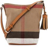 Burberry Canvas Check Crossbody Bag, Saddle Brown