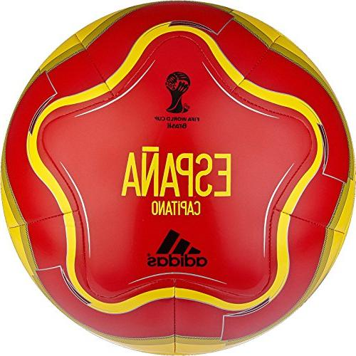 adidas Performance Capitano Spain Soccer Ball, Bold Gold/Red