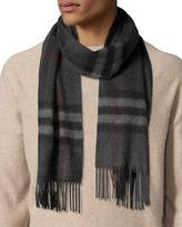 Burberry Cashmere Giant Icon Scarf, Charcoal Check