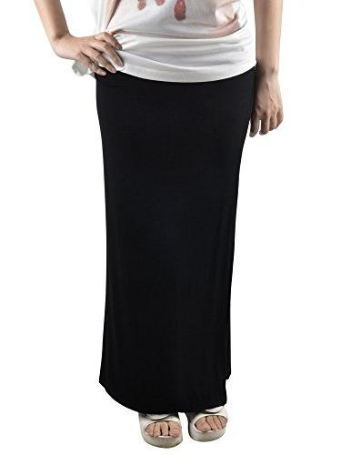 Simplicity Ankle Length Maxi Skirt In Stretch Fit, Gathered