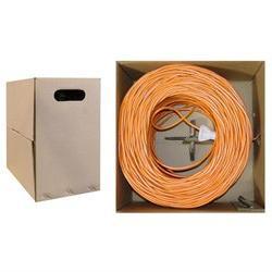 CAT5E, UTP, Bulk Cable, Solid, 350MHz, 24 AWG, Orange, 1000