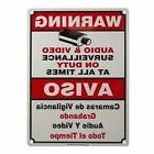 CCTV WARNING SECURITY SIGN BOARD SURVEILLANCE CAMERA AUDIO