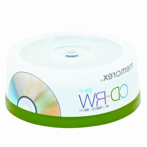 6 Pack  CD-RW Discs, 700MB/80min, 12x, 10/Pack by MEMOREX
