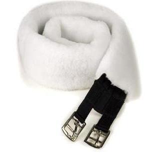 Centaur Fleece Girth Cover - White - 46