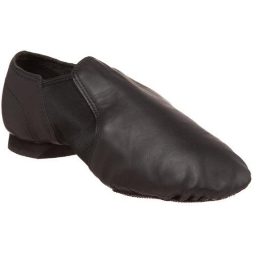 Sansha Charlotte Leather Slip-On Jazz Shoe,Black,11 M US