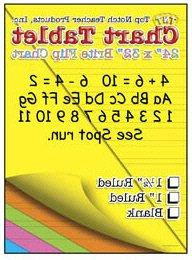 * CHART TABLETS 24X32 ASSORTED RULED