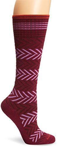 Sockwell Women's Chevron Compression Socks, Thistle, Medium/