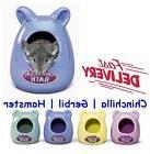 Chew Proof Ceramic Bath House for Small Gerbil Hamster Flip