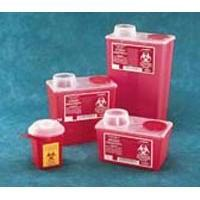 Chimney-Top Sharps Container, Red, Small, 4 Quart