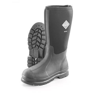 Muck Chore Classic Men's Rubber Work Boots,Black,Men's 7 M