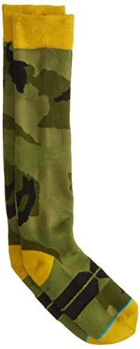 Stance Men's Christianitos Crew Sock, Green, Large/X-Large