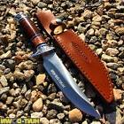 """12"""" Hunt-Down Fixed Blade Brown and Chrome Knife with Sheath"""