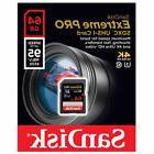 SanDisk Extreme Pro 633X 95MB/S Class 10 64GB SDXC SD UHS-I