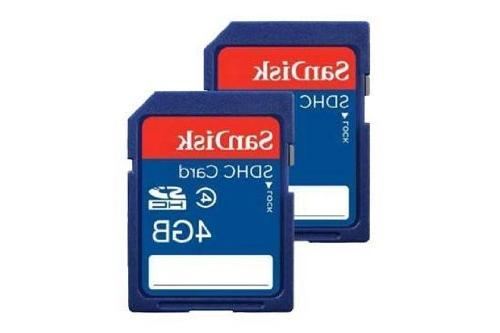 4 GB Class 4 SD Flash Memory Card - 10 Pack With Everything