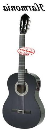 Harmonia Classical Nylon String Guitar Black With Pickup
