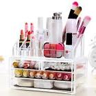 Clear Acrylic Makeup Case Cosmetic Organizer Drawers Holder