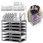 Clear Acrylic MakeUp Cosmetic Organizer 6 Drawers Box